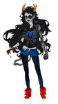 Old Vriska WIP (scrapped) by KenjisArtDump