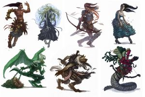 paizo characters by RyanPortillo