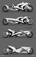 futuristic moto concepts 3 by Sickbrush