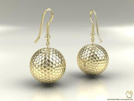 Golf earring by mousek