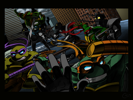 TMNT - Brawl by caymalin