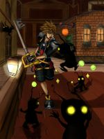 Kingdom Hearts: Battle in Twilight Town by Transientfox