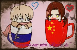 Cups of China and Rusia by Panerissa