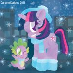 Winter in Canterlot by CaramelCookie