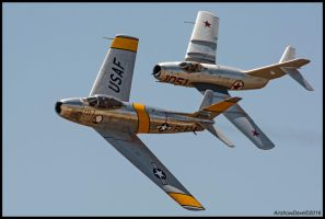 F-86  Mig 15 2016 by AirshowDave