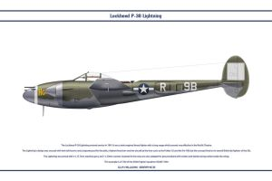 P-38J USAAF 436th FS 1 by WS-Clave