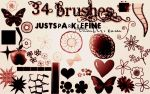 34 brushes by alondra13ize