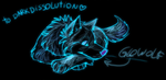 ?Glo Wolf by darkdissolution