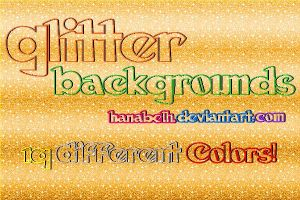 Glitter Backgrounds by hanabell by HanaBell1