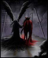 Death and the blood red horse by Destinyfall