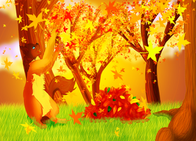 Autumn Leaves by Demonic-creature