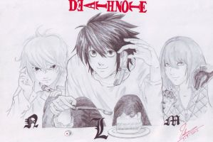 Death note L M N by LubnaQanber