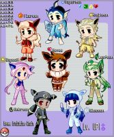 All Eevee Evolution Chain by Tidi-Lebre