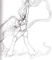 Starfire Sketch 4 by Comix-Chick