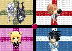 Death Note chibis by Ckathexis