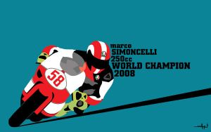 Marco Simoncelli by Asher46