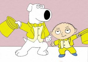 Brian and Stewie Griffin by wackko200