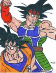 Goku and Bardock by JwalsShop