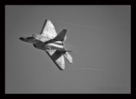 F22 BW Nellis by jdmimages