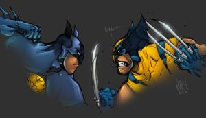 Batman vs Wolvie by AlonsoEspinoza