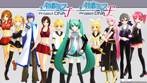 [MMD] - Hatsune Miku Project DIVA f/F by Orahi-shiro