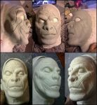 Azog sculpt and Foam Latex Prosthetic/Appliance by RHatake