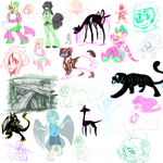 Sketchdump June 2014 by ObnoxiousGiraffe