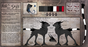 Mell's Ref. Sheet. by TheShadowedGrim