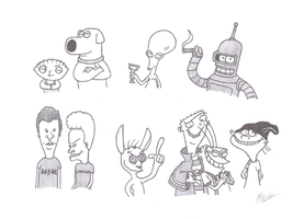 Some Cartoon Favorites by KingEdmarka
