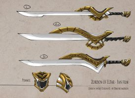 Zordon Sword Design by BoredToLife
