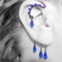 Sapphire and Purple Wire Ear Wrap- SOLD by YouniquelyChic