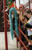 Vocaloid Cosplay :D Neru, Luka, Miku, Gumi by AsleepPanther