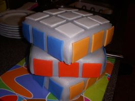 Rubik's Cube Cake by water-child
