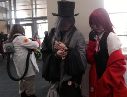 Grell sutcliff and the undertaker cosplay! by colorweelofdoom