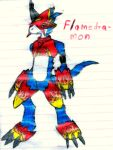 03.- Flamedramon by MCKohan