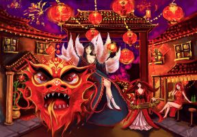 League of Legends : Lunar Revel by SniffLess