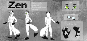 .Zen Reference Sheet.part2- commission by NightTwilightWolf