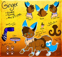 Ginger the eevee Reference by eevee4everX3