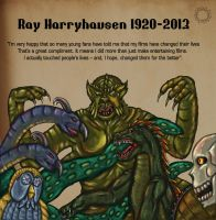 Ray Harryhausen Tribute by Silvermoonlight