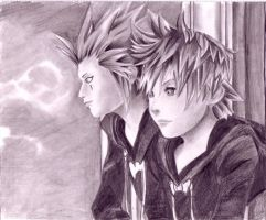 Axel and Roxas by ChocolateChaos