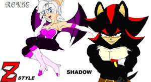 Shadow and Rouge DBZ style. by sonigoku