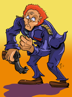 Captain Pronin is angry by AmazingTrout