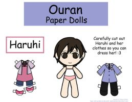 Haruhi Paper Doll by Malindachan