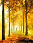 Yellow Mood oil painting by Leonid Afremov by Leonidafremov