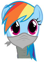 Rainbow Dash Vector - Dramatic Assault RD by Anxet