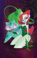 Poison Ivy and Bulbasaur by spicysteweddemon