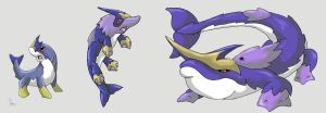 Walking Narwhal Pokemon by werepenguin