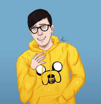 Phil wearing glasses by MarketaKindlova