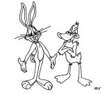 Bugs Bunny and Daffy Duck lineup by ARTis2awsome