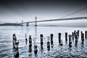 San Fran, Moonlight Bay Bridge by alierturk